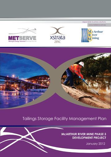 Tailings Storage Facility Management Plan - Environment Protection ...