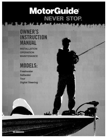 Owners Manual - MotorGuide