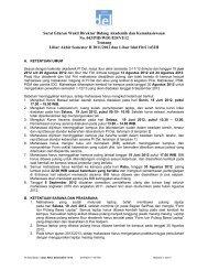 Surat Edaran Wakil Direktur Bidang Akademik dan Kemahasiswaan ...