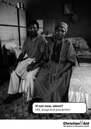 If not now, when? - Christian Aid