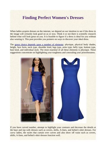 Finding Perfect Women's Dresses