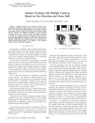 Human Tracking with Multiple Cameras Based on Face Detection ...