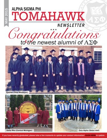 Tomahawk Monthly Newsletter.. May, 2015