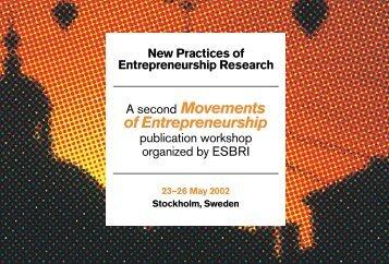 New Practices of Entrepreneurship Research - Esbri