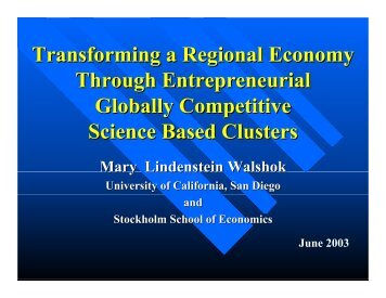 Transforming a Regional Economy Through Entrepreneurial ... - Esbri