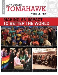 Tomahawk Monthly Newsletter, March, 2015