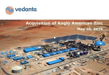 Acquisition of Anglo American Zinc - Vedanta Resources