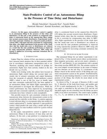 State-Predictive Control of an Autonomous Blimp in ... - IEEE Xplore