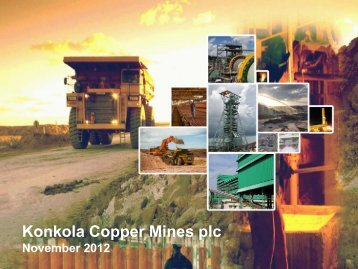Konkola Copper Mines plc - Vedanta Resources