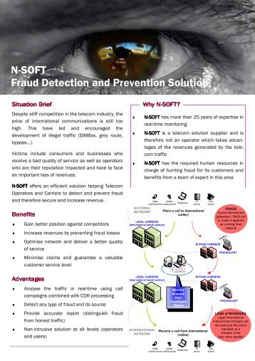 N-SOFT Fraud Detection and Prevention Solution