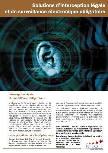 Solutions d'interception légale et de surveillance ... - N-Soft