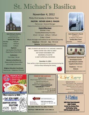 November 4, 2012 - St. Michaels Basilica
