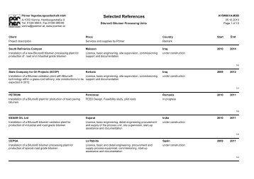 Selected References - Pörner Ingenieurgesellschaft mbH