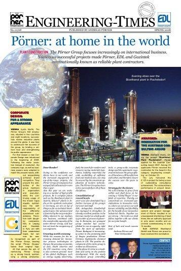 Pörner: at home in the world - Pörner Ingenieurgesellschaft mbH