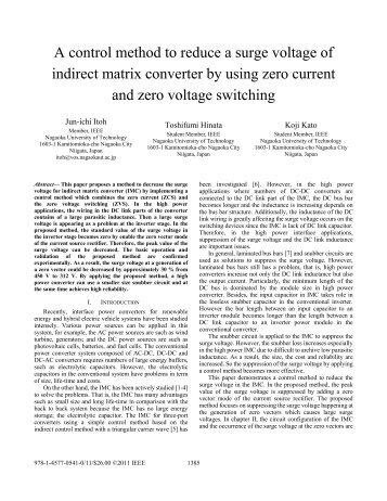 A Control Method to Reduce a Surge Voltage of ... - IEEE Xplore