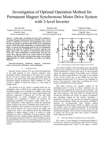 Investigation of Optimal Operation Method for ... - IEEE Xplore