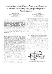Investigation of the Circuit Parameters Design in a Power Converter ...