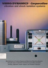 Press Isolators, machine mounts, Vibro mounts, - Vibro/Dynamics ...