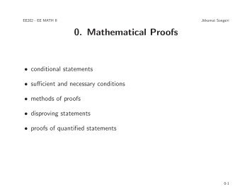 Introduction to mathematical proofs - Jitkomut Songsiri