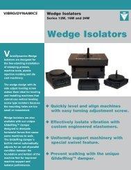 Wedge Isolators - Vibro/Dynamics Corporation