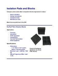 Elastomer pads and b.. - Vibro/Dynamics Corporation