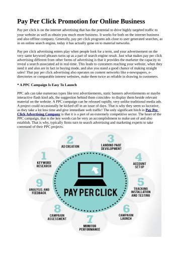 Pay Per Click Promotion for Online Business
