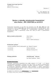 Zpráva o výsledku přezkoumání hospodaření obce kozlov za rok 2010