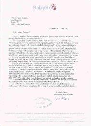 Obec Kozlov v listopadu 2012 přispěla finanční částku na ...