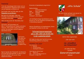 """Alte Schule"" Generationenstadel"