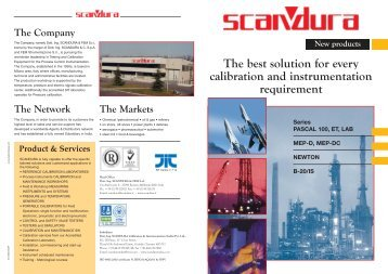 The best solution for every calibration and instrumentation requirement