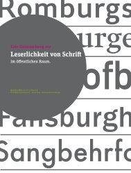 Leserlichkeit von Schrift im öffentlichen Raum - HTW Berlin