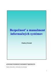 Bezpečnosť a manažment informačných systémov - matus