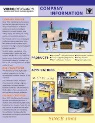 Company Profile - Vibro/Dynamics Corporation