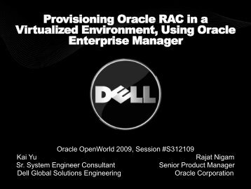Provisioning Oracle RAC in a Virtualized Environment, Using