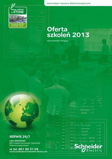 Oferta szkoleń 2013 - Schneider Electric Energy Poland Sp. z o.o.