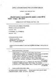Zápis z jednání komise pro otevírání obálek - Libuš