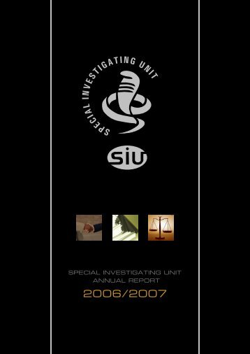 Annual Report 2006/07 - Special Investigating Unit