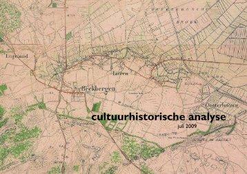 cultuurhistorische analyse - Gemeente Apeldoorn