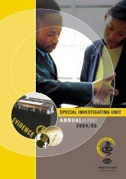 Annual Report 2004/05 - Special Investigating Unit