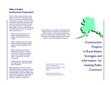 Brochure - College of Engineering and Mines - University of Alaska ...