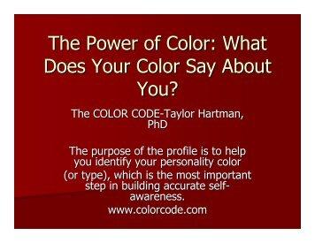The Power of Color: What Does Your Color Say About You?