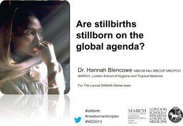 Are stillbirths stillborn on the global agenda? - Countdown to 2015
