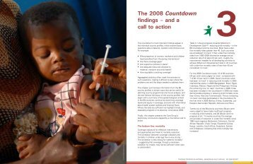 Chapter 3: The 2008 Countdown findings - and a call to action[972 KB]