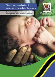 Situation analysis of newborn health in Tanzania - Countdown to 2015