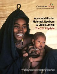 Accountability for maternal, newborn and child survival: The 2013 ...