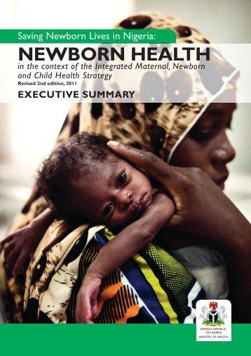 Newborn Health Report, Executive Summary - Countdown to 2015