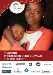 tracking progress in child survival the 2005 report - World Health ...