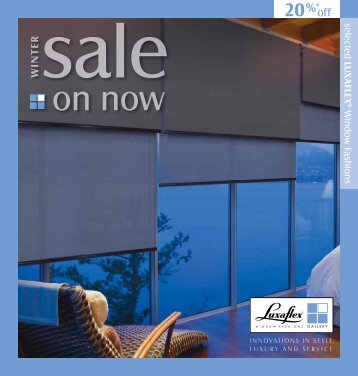 Sale - Park Shutters & Blinds - Luxaflex