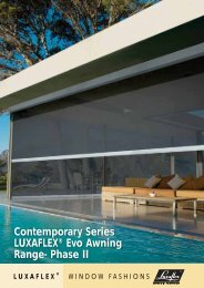 Contemporary Series LUXAFLEX® Evo Awning Range- Phase II