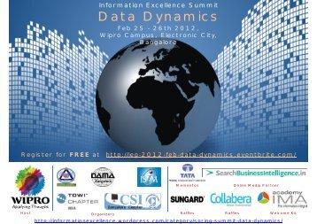 Agenda and Speaker Info - Information Excellence - WordPress.com